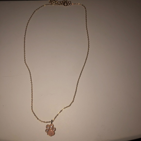 Other - Delicate Paw Print Charm Necklace